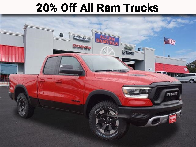 New 2019 RAM 1500 REBEL QUAD CAB 4X4 64 BOX
