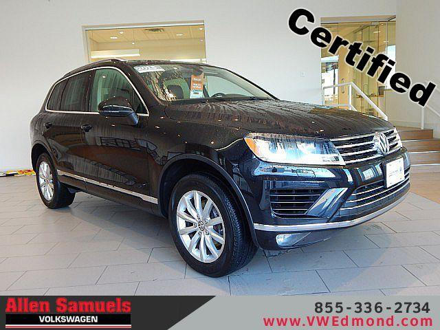 Certified Pre-Owned 2015 Volkswagen Touareg 4dr V6 Sport w/Technology